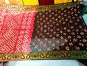 Kela Silk Hand Bhandez Saree