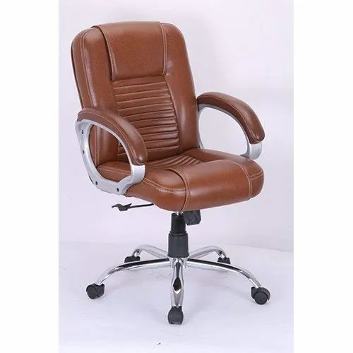 Brown Leather Director & Chairman Chair