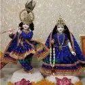 Marble Iskone Radha Krishna Statue
