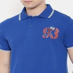 Cotton Printed T Shirts Polo Round Neck