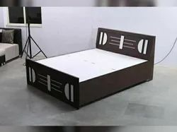 Brown Modern Double Bed, For Hotel, Size: 75*72 Ench