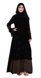 Women's Nida Hand Work Abaya Burqa With Dupatta