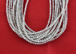 Natural White Diamond Micro Faceted Beads