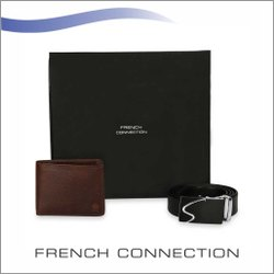 French Connection Belt & Wallet Combo