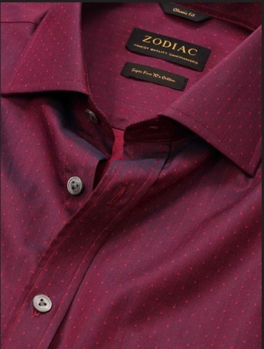 c116d894bd3 Bramante Classic Fit Maroon Shirt at Rs 2699  piece