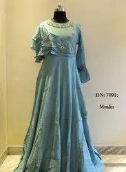 Muslin Designer Gown