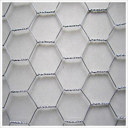 Stainless Steel Galvanized Hexagonal Wire Mesh, Thickness: 1-2mm
