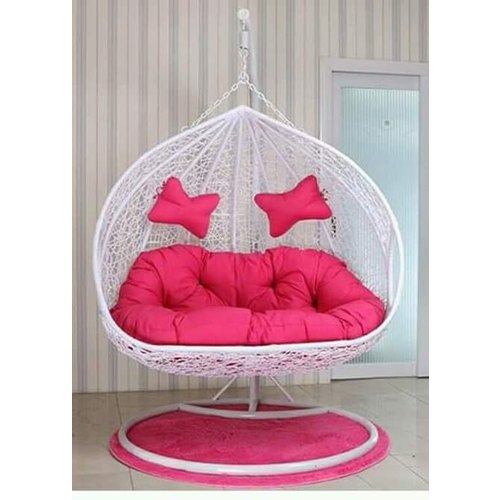 White Iron And Pvc Can Wire Hanging Swing Chair Rs 14000 Piece R S Shine Id 20639030055