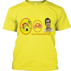 Yellow Cotton Promotional T Shirt Printing Service
