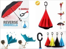 Reversible No Drip Umbrella with C shape Handle