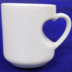 Heart Cut Sublimation Mug