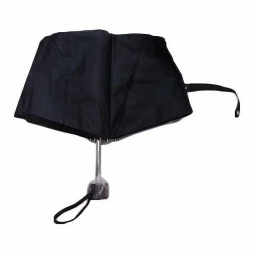 dc2795761 Plain Polyester And Nylon Black Summer Umbrella, Rs 261 /piece | ID ...