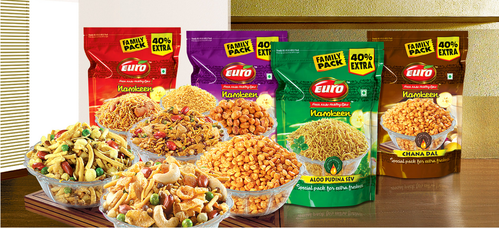 Manufacturer of Euro Chips & Euro Namkeen by Euro India Fresh Foods