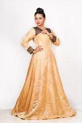 Silk Party Wear Designer Gown