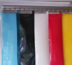Plain Uv Stabilized Opaque PVC Strip Curtain, Thickness: 2mm And 3mm, Size: 200mm And 300mm