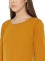 Women Solid Long A-Line Top