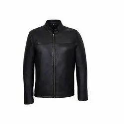 Ladies Full Sleeve Black Casual Plain Leather Jacket