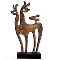 Brass Table Top Decorative Deer, For Interior Decor