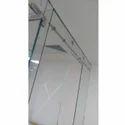 Transparent 101-500 Square Feet Toughened Glass, Shape: Flat