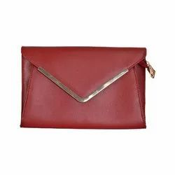 Azzra Red Elegant Envelope Clutch