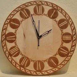 Analog Engraved Wooden Clocks