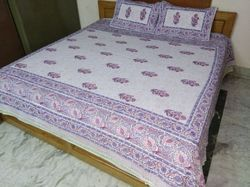 Cotton Printed Bed Sheet And Pillow Cover
