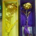 Gold Foil Golden Rose Gift 25 Cm