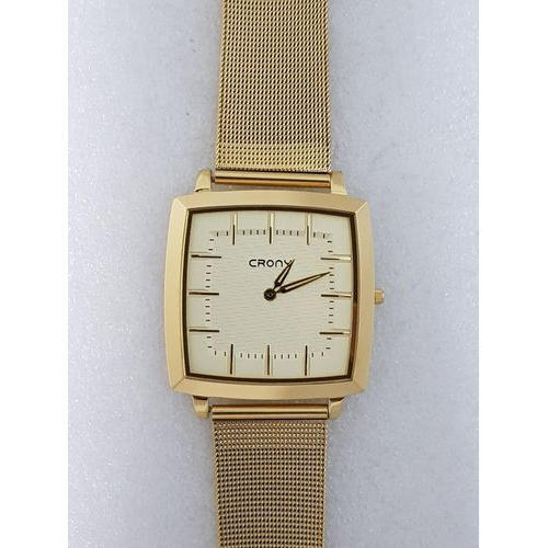 e48a621b9 Crony Men Gold Tone Chain Wrist Watch, Rs 1950 /piece, Metro Watch ...