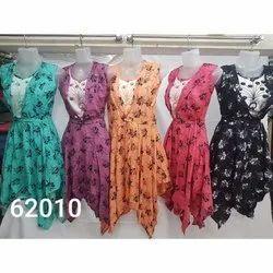 Printed Sleeveless Western Cotton Dress