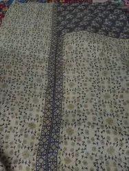Floral Printed Vintage Kantha Quilt
