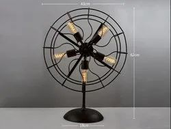 Industrial Fan Style Table Lamp