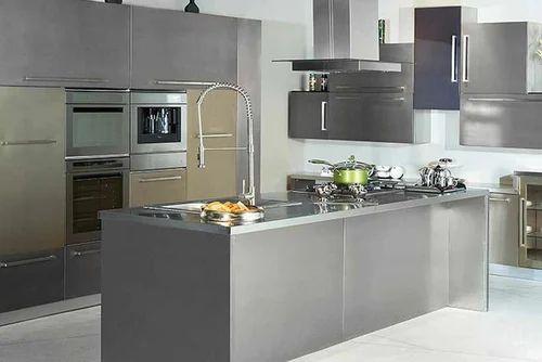 Homecare Interio Stainless Steel Modular Kitchens, Warranty: 1-2 Years