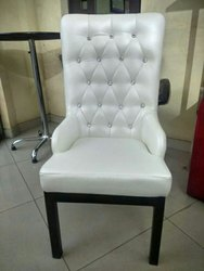 vijay Metal Finish Dinning Hall Chair, Size: Medium