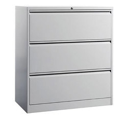 Fonzel FCL31 Three Drawer Metal Lateral Filing Cabinet