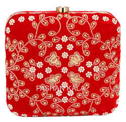 Beaded Zari Hand Embroidery Clutch Purse