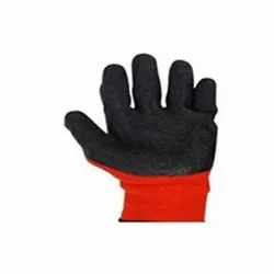 Crinkle Latex Palm Coated Gloves, Size: 9 Inches