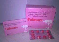 Folmate L-methylfolate Pyridoxal 5 Phosphate Mecobalamin DHA, Packaging Size: 10*1*10, Packaging Type: Blister