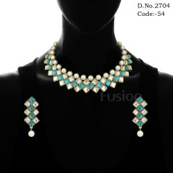Fusion Ethnic Kundan Necklace Set