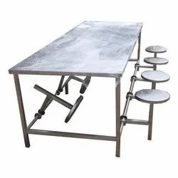 Polished Stainless Steel Canteen Dining Table