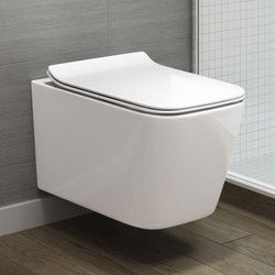 Closed Front White Wall Hung Toilets, for Bathroom Fitting