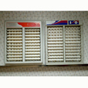 """15-24"""" White Cooler Front Grill"""