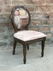 Weight: 12 Kg Approx Walnut COLONIAL FRENCH WOODEN CHAIR, Size: Standard