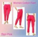 Ladies Cotton Pink Pant