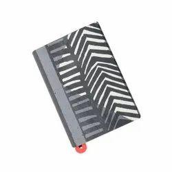 Handmade Light Purple Color Notebook With White Animal Print