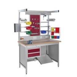 Assembly Workstation with Light and Board