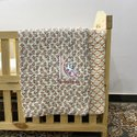 Handmade 100% Cotton 40x40 Inches Stander Size 3 Layer Reversible Kantha Baby Quilt