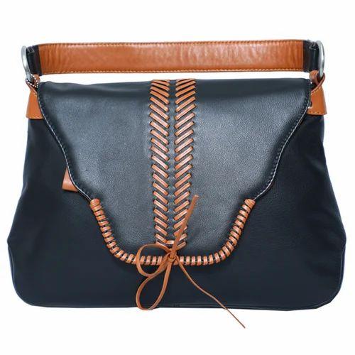 6568158c3d Brown Ladies Leather Handbag, Size : 28 X 9 X 16 Cm, Rs 1000 /piece ...