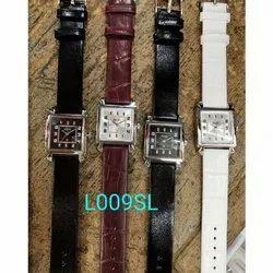 Leather L009SL Mens Wrist Watch