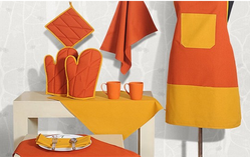 Yellow And Orange Kitchen Linen
