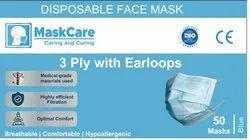 Surgical Disposable 3 Ply Face Mask With Earloops